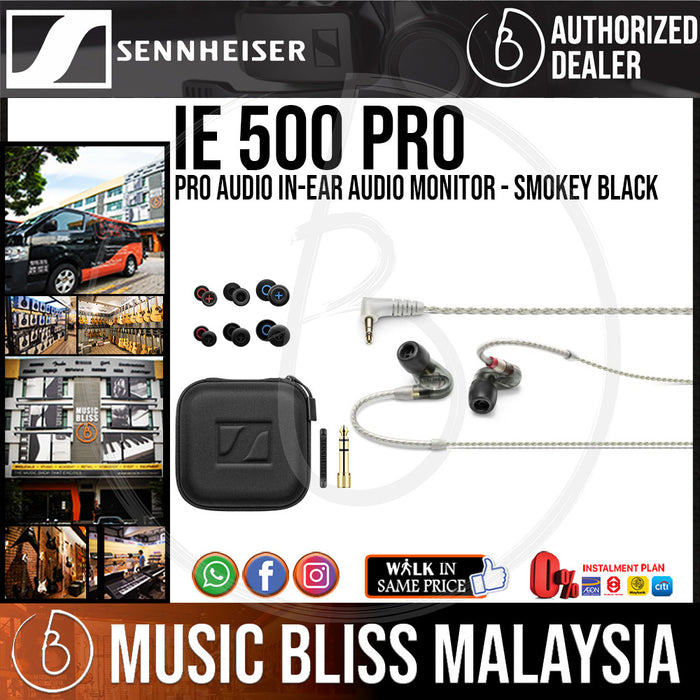 Sennheiser IE 500 PRO Monitor Earphones - Smoky Black (IE500) - Music Bliss Malaysia