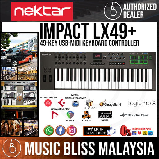 Nektar Impact LX49+ 49 Key Synth Action Keys Keyboard Controller - Music Bliss Malaysia
