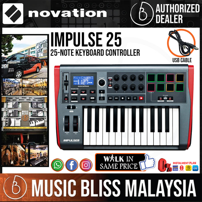 Novation Impulse 25 Keyboard Controller - Music Bliss Malaysia