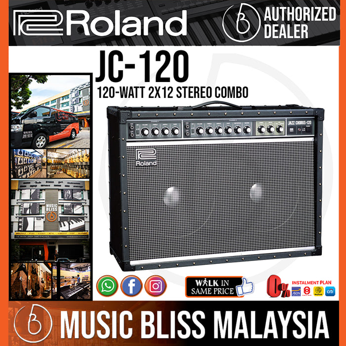 Roland JC-120 Jazz Chorus 120-watt 2x12 Stereo Combo Amplifier (JC120) - Music Bliss Malaysia