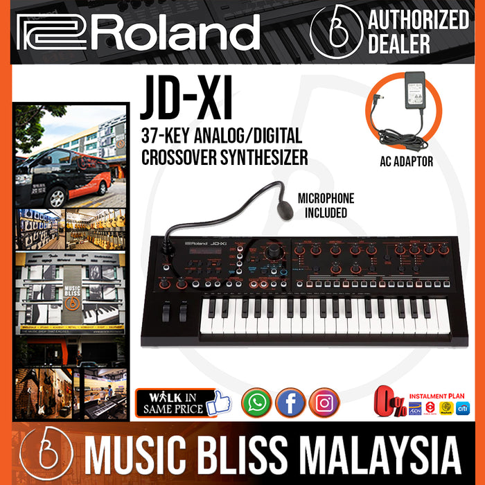 Roland JD-Xi Interactive Analog/Digital Crossover Synthesizer with FREE Shipping (JDXi JD Xi) - Music Bliss Malaysia