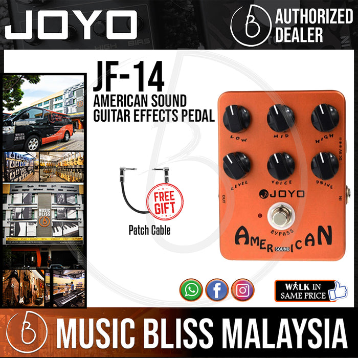 Joyo JF-14 American Sound Guitar Effects Pedal with Free Patch Cable (JF14) - Music Bliss Malaysia