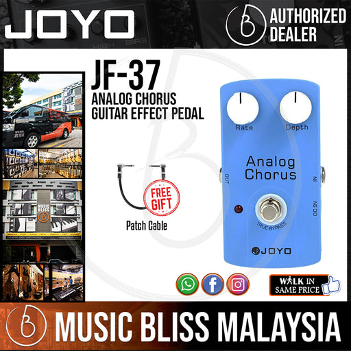 Joyo JF-37 Analog Chorus Guitar Effect Pedal with Free Patch Cable (JF37) - Music Bliss Malaysia