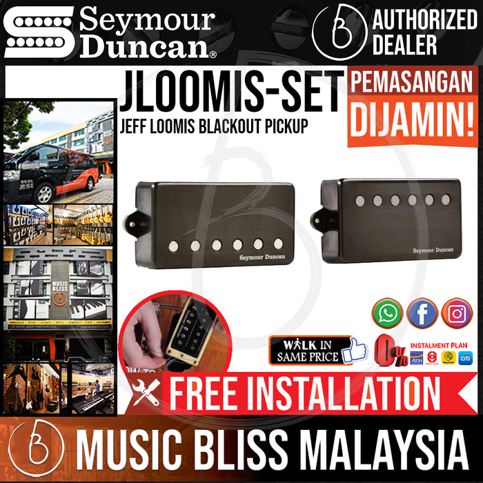 Seymour Duncan Jeff Loomis Blackout Pickups - Set (Free In-Store Installation) - Music Bliss Malaysia