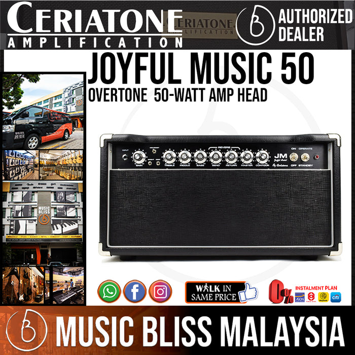 Ceriatone Overtone Joyful Music 50 50-watt Amp Head - Music Bliss Malaysia
