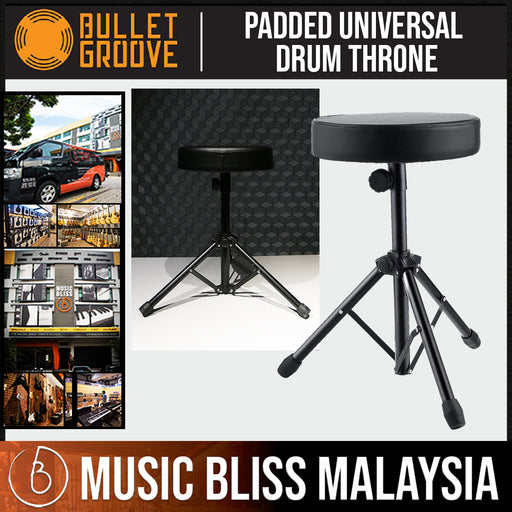 Bullet Groove Padded Universal Drum Throne ,Drum Stool, Budget Drum Chair, Best Drum Throne with comfortable Padding - Music Bliss Malaysia
