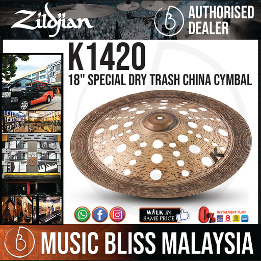 "Zildjian 18"" K Custom Special Dry Trash China Cymbal (K1420)"