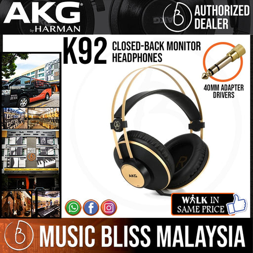 AKG K92 Closed-back Monitor Headphones (K-92 / K 92) *Crazy Sales Promotion* - Music Bliss Malaysia