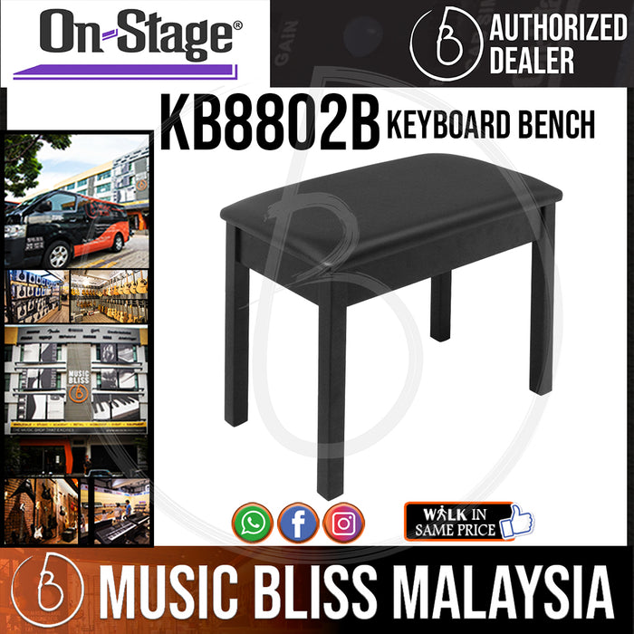 On-Stage KB8802B Keyboard Bench (OSS KB8802B) - Music Bliss Malaysia
