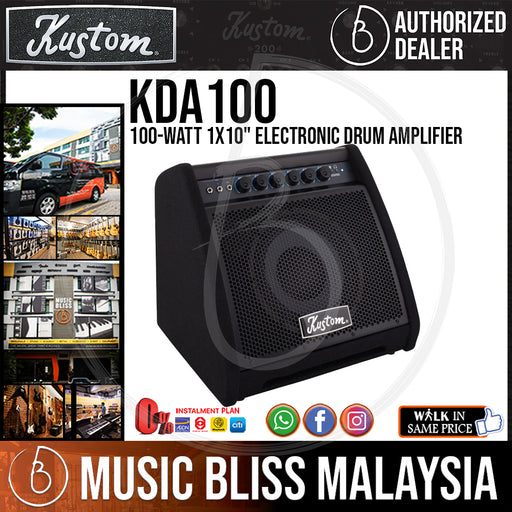 "Kustom KDA100 100-watt 1X10"" Electronic Drum Amplifier (KDA-100) - Music Bliss Malaysia"