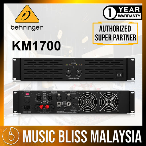 Behringer KM1700 1700-watt 2-channel Power Amplifier (KM-1700) *Crazy Sales Promotion* - Music Bliss Malaysia
