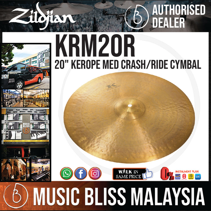 "Zildjian 20"" Kerope Medium Crash/Ride Cymbal (KRM20R) - Music Bliss Malaysia"