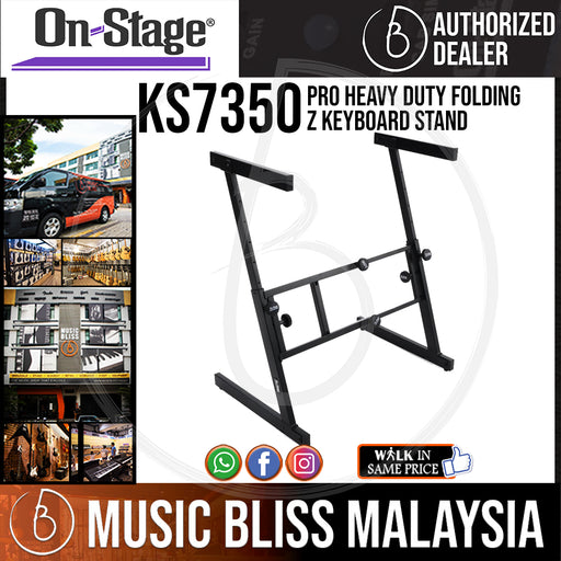 On-Stage KS7350 Pro Heavy Duty Folding Z Keyboard Stand (OSS KS7350)