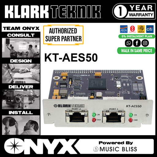 Klark Teknik KT-AES50 Network Module with up to 48 Bidirectional Channels (KTAES50) * Everyday Low Prices Promotion *