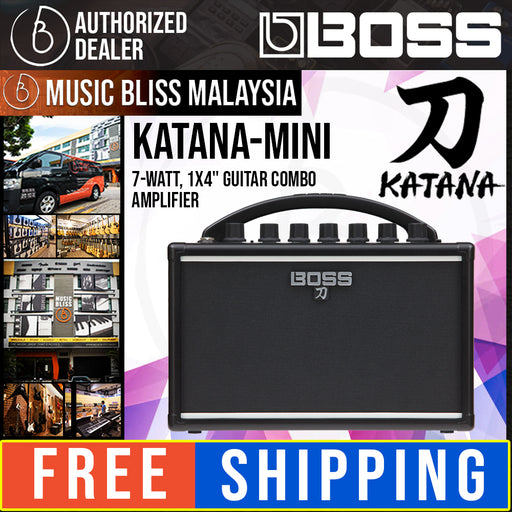 Boss Katana Mini 7-Watt Combo Amplifier (KTN-Mini/Katana-Mini) - Music Bliss Malaysia