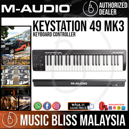 M-Audio Keystation 49 MK3 Keyboard Controller - Music Bliss Malaysia