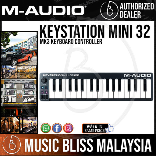 M-Audio Keystation Mini 32 MK3 Keyboard Controller - Music Bliss Malaysia
