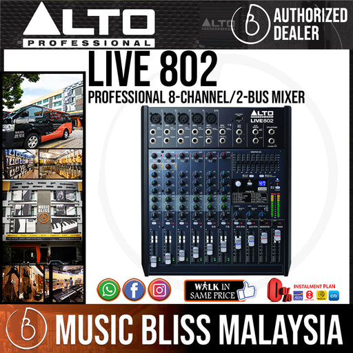Alto LIVE 802 8-Channel 2-Bus Mixer (LIVE802) *Crazy Sales Promotion* - Music Bliss Malaysia