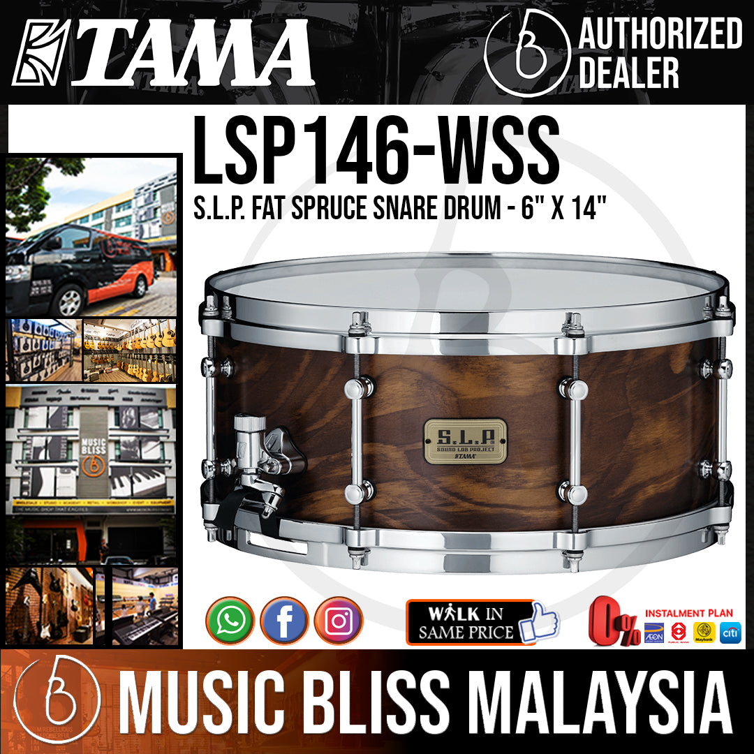 """Tama LSP146 S.L.P. Fat Spruce Snare Drum - 6"""" x 14"""" - Music Bliss Malaysia"""