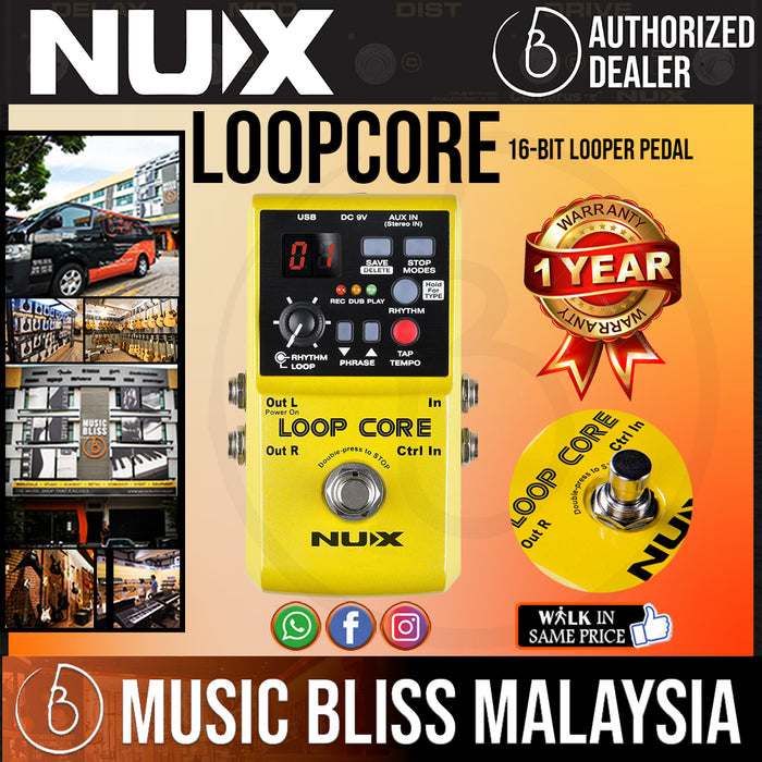 NUX Loop Core 16-bit Looper Pedal *Crazy Sales Promotion* - Music Bliss Malaysia