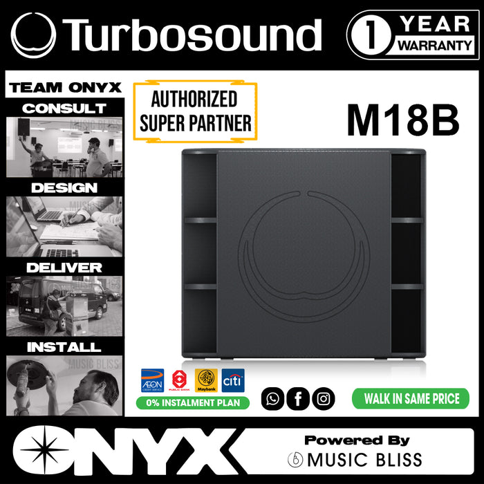"Turbosound Milan M18B 2200-Watt 18"" Powered Subwoofer (M-18B) - Music Bliss Malaysia"