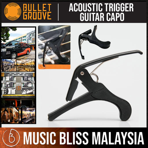 Bullet Groove Acoustic Trigger Guitar Capo and Electric Guitar Capo, Budget Best Multi Guitar Capo - Music Bliss Malaysia