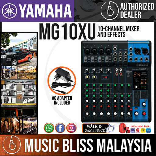 Yamaha MG10XU 10-Channel Mixer and Effects (MG 10XU) *Crazy Sales Promotion* - Music Bliss Malaysia