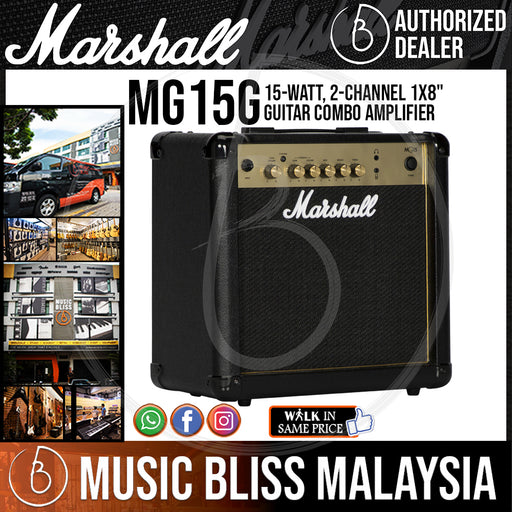 "Marshall MG15G 15-watt 1x8"" Combo Amplifier - Music Bliss Malaysia"