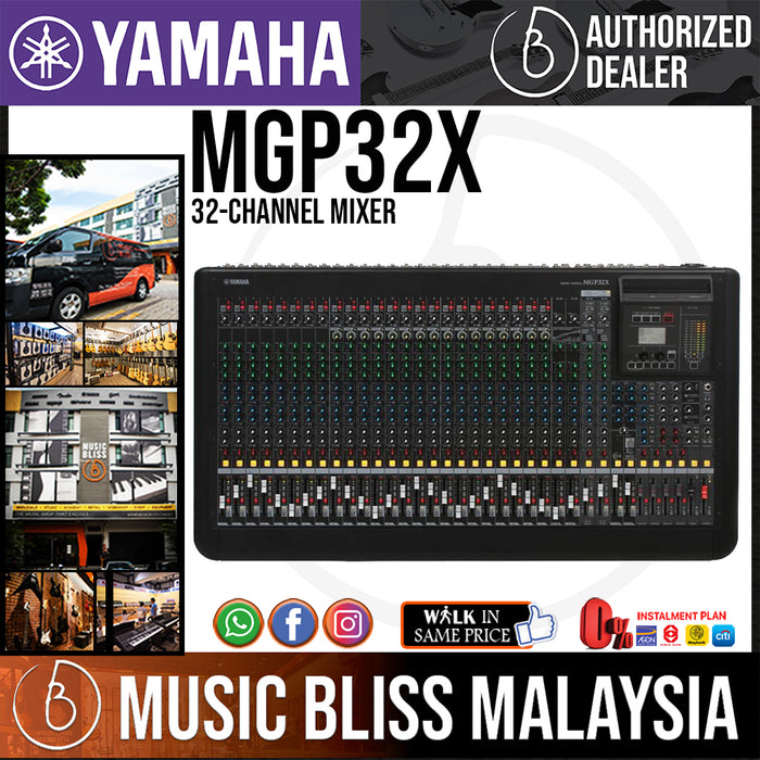 Yamaha MGP32X 32-channel Mixer with Effects (MGP-32X/MGP 32X)  *Crazy Sales Promotion* - Music Bliss Malaysia