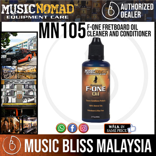 Music Nomad MN105 F-ONE Fretboard Oil Cleaner and Conditioner (MN-105) - Music Bliss Malaysia