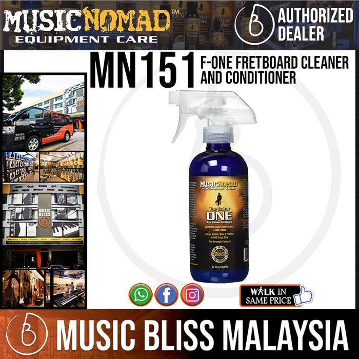Music Nomad MN151 F-ONE Fretboard Cleaner and Conditioner, 8 oz. (MN-151) - Music Bliss Malaysia