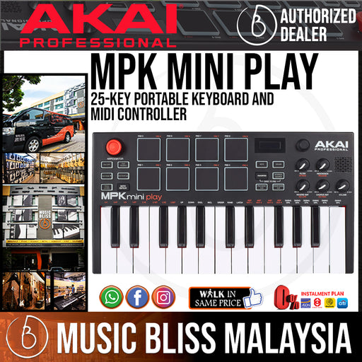 Akai Professional MPK Mini Play Portable Keyboard and MIDI Controller *Crazy Sales Promotion* - Music Bliss Malaysia