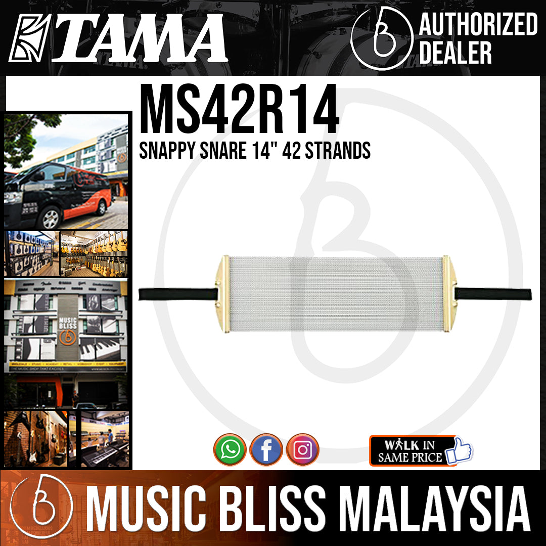 """Tama MS42R14 Snappy Snare 14"""" 42 Strands - Music Bliss Malaysia"""