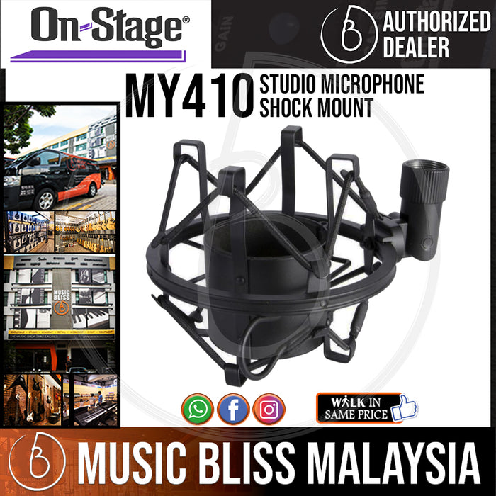 On-Stage MY410 Studio Microphone Shock Mount  (OSS MY410) - Music Bliss Malaysia