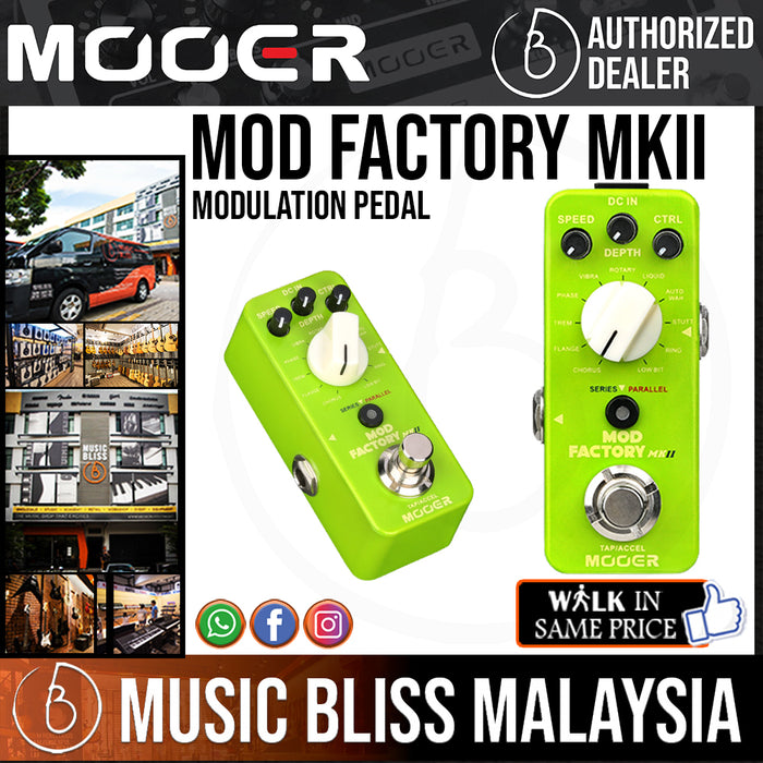 Mooer Mod Factory MKII Modulation Pedal - Music Bliss Malaysia
