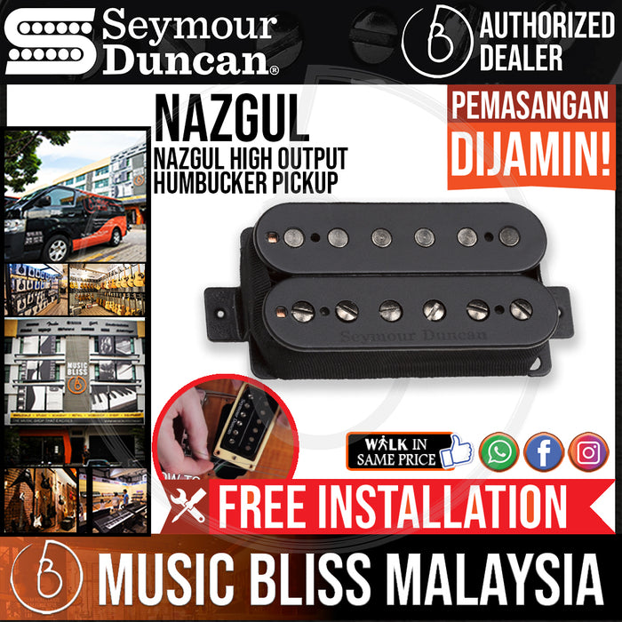 Seymour Duncan Nazgul High Output Humbucker Pickup - Black Bridge