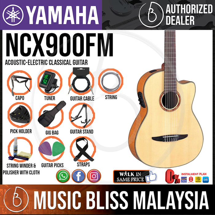 Yamaha NCX900FM Acoustic-Electric Classical Guitar (NCX-900FM) - Music Bliss Malaysia