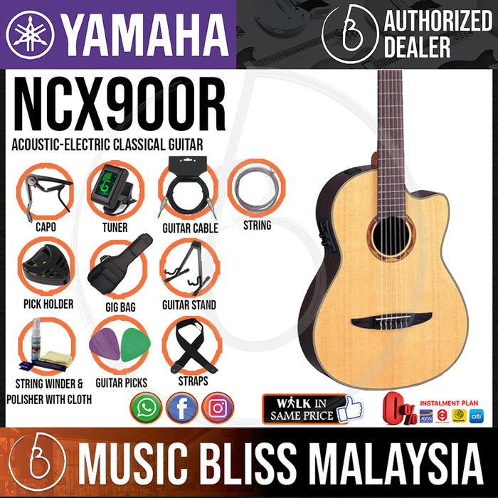 Yamaha NCX900R Acoustic-Electric Classical Guitar (NCX-900R) - Music Bliss Malaysia
