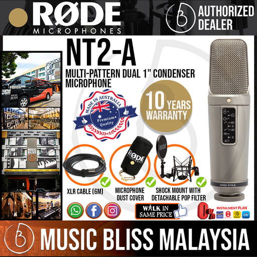 Rode NT2-A Condenser Microphone (NT2A) 10 Years Warranty *Crazy Sales Promotion*