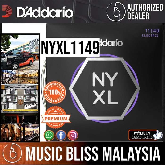 D'Addario NYXL1149 Nickel Wound Electric Strings -.011-.049 Medium - Music Bliss Malaysia