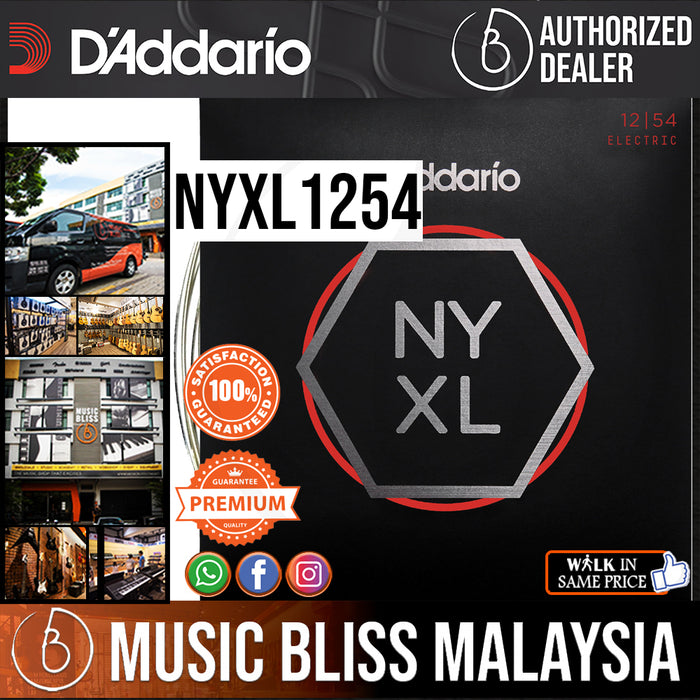 D'Addario NYXL1254 Nickel Wound Electric Strings -.012-.054 Heavy - Music Bliss Malaysia