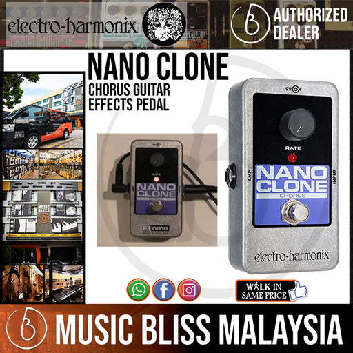 Electro Harmonix Nano Clone Chorus Guitar Effects Pedal *Crazy Sales Promotion*