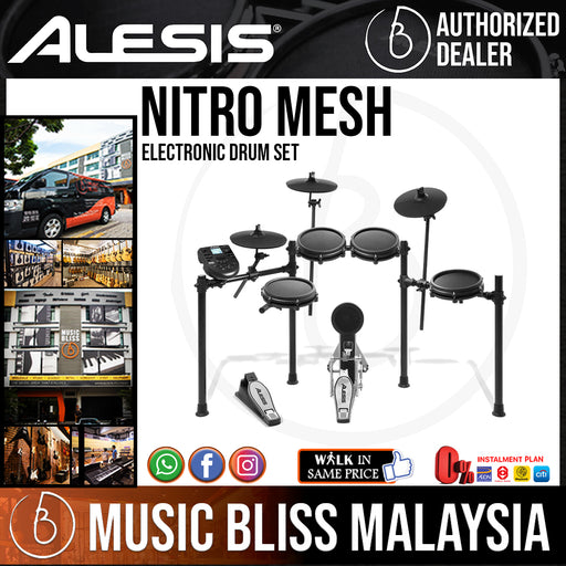 Alesis Nitro Mesh Electronic Drum Set - Music Bliss Malaysia