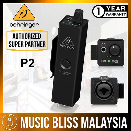 Behringer P2 Ultra-Compact Personal In-Ear Monitor Amplifier (P-2) *Everyday Low Prices Promotion* - Music Bliss Malaysia