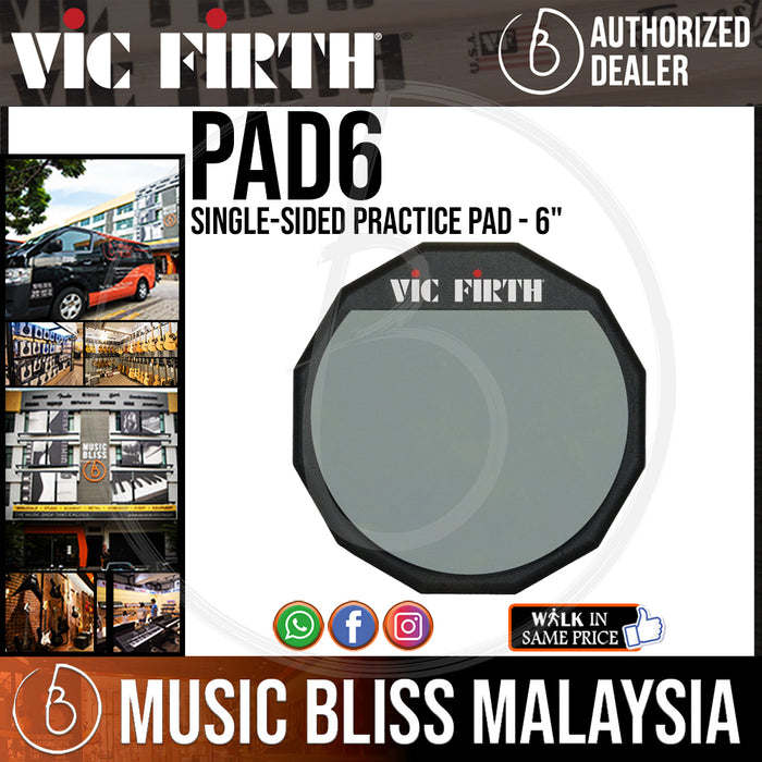 "Vic Firth Single-sided Practice Pad - 6"" (PAD6) - Music Bliss Malaysia"