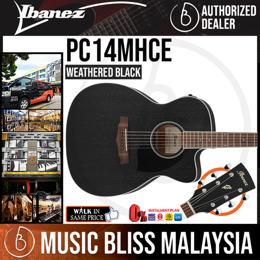*New 2021* Ibanez PC14MHCE Electric Guitar - Weathered Black (PC14MHCE-WK) - Music Bliss Malaysia