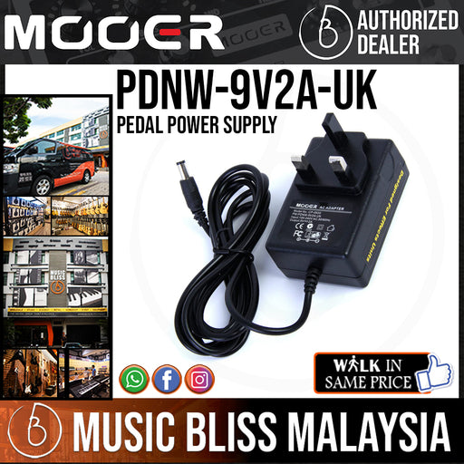 Mooer PDNW-9V2A-UK Pedal Power Supply (PDNW9V2AUK) - Music Bliss Malaysia