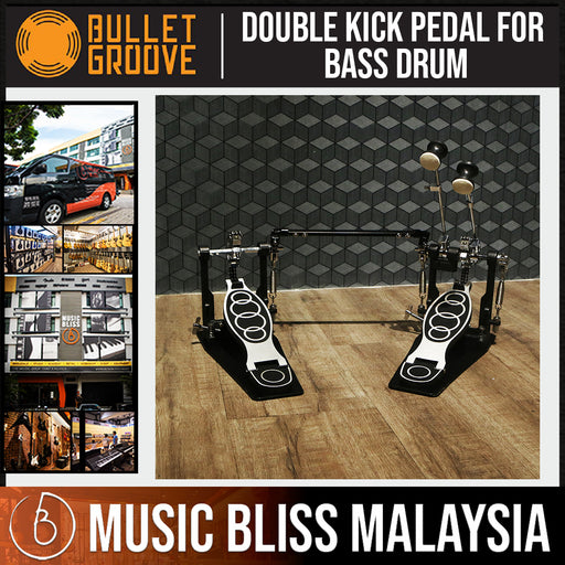 Bullet Groove Drum Double Pedal for Bass Drum, Double Bass Pedal, Kick Bass Drum Double Pedal, Best Budget Bass Double Pedal - Music Bliss Malaysia