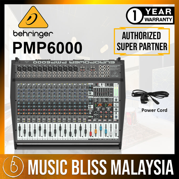 Behringer Europower PMP6000 16-channel 1600-Watt Powered Mixer (PMP-6000) *Crazy Sales Promotion*
