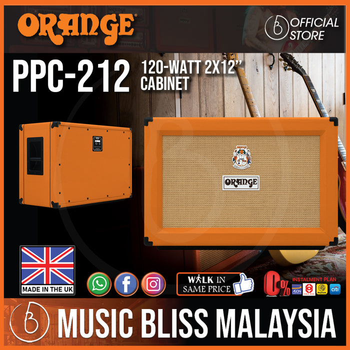 Orange PPC212 120-watt 2x12 Cabinet (Made in UK) with Free Cover